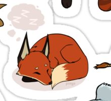 z z z - sleeping animals shirt Sticker