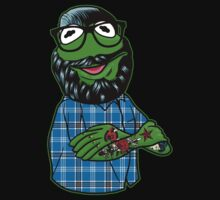 Hipster Kermit (half body) by printproxy