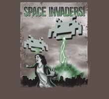 Space Invaders - Vintage poster movie by oliviero