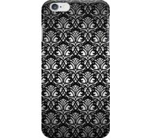 Black Lace Pattern on White Background iPhone Case/Skin