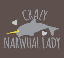 Crazy Narwhal Lady Kids Clothes