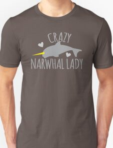 Crazy Narwhal Lady Unisex T-Shirt