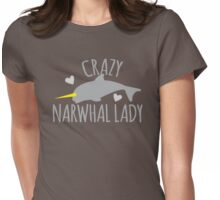 Crazy Narwhal Lady Womens Fitted T-Shirt