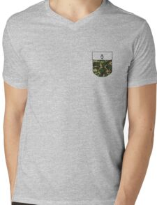 Camo pocket Mens V-Neck T-Shirt