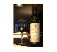 A toast with a fine old wine Art Print