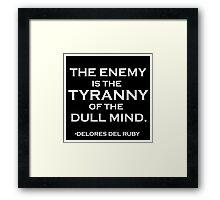 The Enemy Framed Print