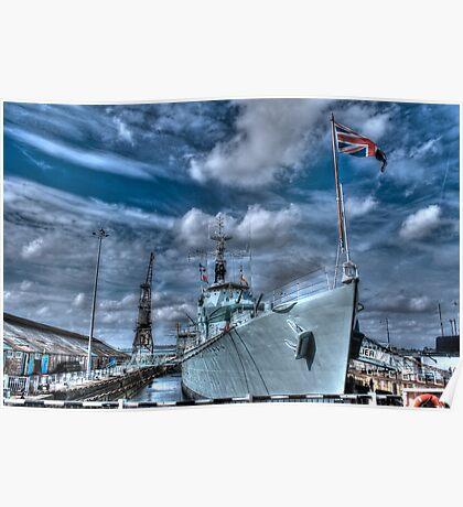 HMS Cavalier Destroyer Ship   Poster