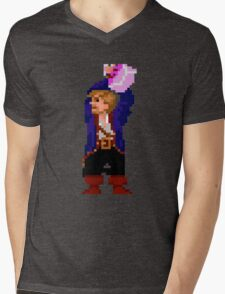 Guybrush and the voodoo (Monkey Island 2) Mens V-Neck T-Shirt
