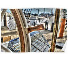 Ships Wheel - HMS Ganet  Poster