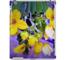 Splendid yellow flowers iPad Case/Skin