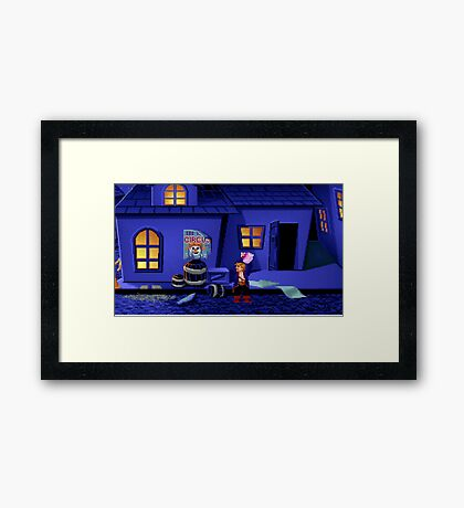 Guybrush and the voodoo (Monkey Island 2) Framed Print