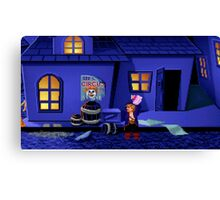 Guybrush and the voodoo (Monkey Island 2) Canvas Print