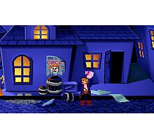 Guybrush and the voodoo (Monkey Island 2) Photographic Print