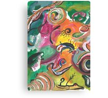 Amebas Caught in Bright Colors  Canvas Print