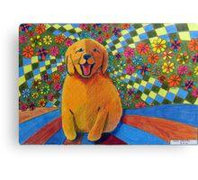 406 - HAPPY PUPPY - DAVE EDWARDS - MIXED MEDIA - 2014 Canvas Print