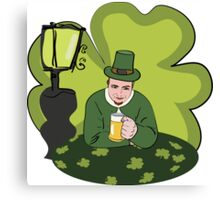 St Patricks Day Man with Beer Canvas Print