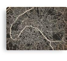 Paris map ink lines Canvas Print