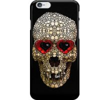 Skull Art - Day Of The Dead 3 Stone Rock'd iPhone Case/Skin