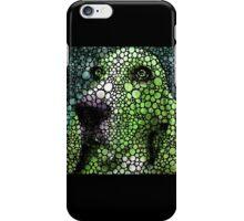 Stone Rock'd Basset Hound Pop Art By Sharon Cummings iPhone Case/Skin