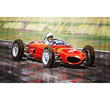 Ferrari 156 Dino British GP1962 Phil Hill Photographic Print