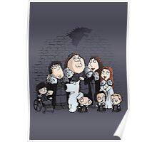 Family Guy in Stark game of thrones poster Poster