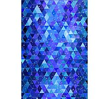 Space blue geometry Photographic Print