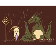 khaleesi going to King's Landing with dragon 3 poster Photographic Print