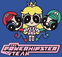 Team Mario in Powerpuff girls poster by EdWoody