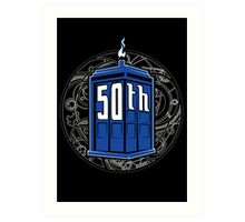 Happy 50th Tardis Art Print