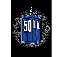 Happy 50th Tardis Photographic Print