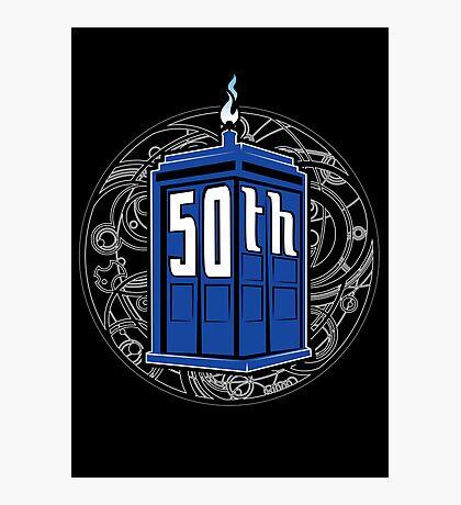 Happy 50th Tardis Photographic Print