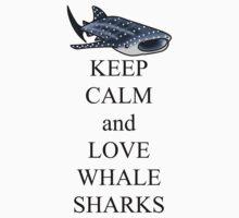Keep calm and love whale sharks Kids Tee