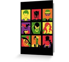 Villain PopArt poster Greeting Card