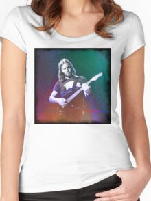 David Gilmour Art Women's Fitted Scoop T-Shirt