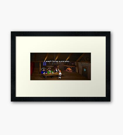 I want to be a pirate! (Monkey Island 2) Framed Print