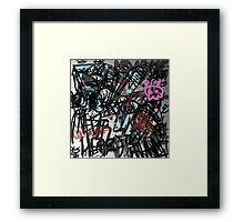 Digi graffiti  Framed Print