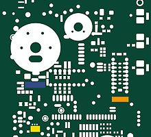 Motherboard Face - Green by TheFrisby