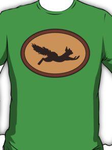 Ooh-Shiny! ADHD Squirrel Superhero Logo T-Shirt