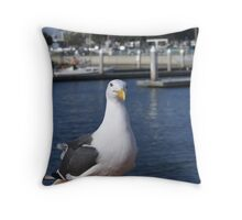 Patiently waiting; Pacific Dawn Sport Fishing; Ventura, CA Throw Pillow