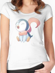 Winter Scarf Piplup Women's Fitted Scoop T-Shirt