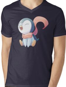 Winter Scarf Piplup Mens V-Neck T-Shirt