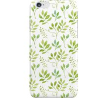 Watercolor leaves pattern iPhone Case/Skin