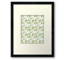 Watercolor leaves pattern Framed Print