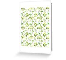 Watercolor leaves pattern Greeting Card