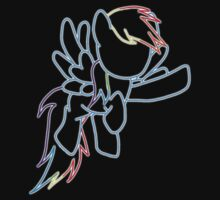 Rainbow Dash Outline Kids Tee