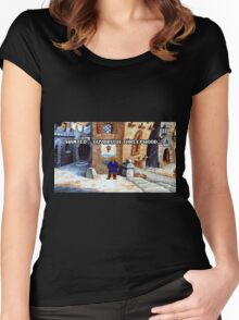 Wanted Guybrush Threepwood! (Monkey Island 2) Women's Fitted Scoop T-Shirt