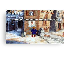 Wanted Guybrush Threepwood! (Monkey Island 2) Metal Print