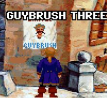 Wanted Guybrush Threepwood! (Monkey Island 2) Sticker