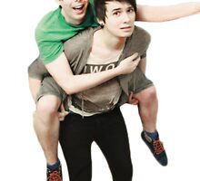 phil riding dan  by lilyatethepizza