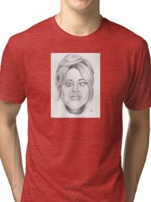 Jane Fonda's funny face Tri-blend T-Shirt